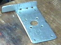 Name: 2013-02-09 Tricopter Yaw Plate Bent.jpg Views: 207 Size: 68.8 KB Description: Plate after bending ... by hand using a vice