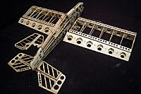 Completed balsa airframe