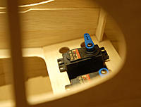 Name: cub-42.jpg Views: 327 Size: 29.6 KB Description: Looking through window opening clearly shows up-angle of servo mount.