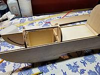 """Name: 20190921_145616.jpg Views: 2 Size: 3.65 MB Description: 1/8""""X1/16"""" balsa glued to help secure and line up cowl top sheeting."""