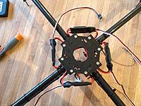 Name: IMG_5505.jpg Views: 899 Size: 276.1 KB Description: Cable ties to secure esc's to arms.