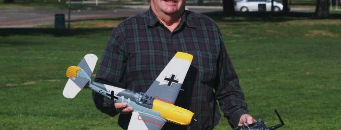 Author with his Bf-109.
