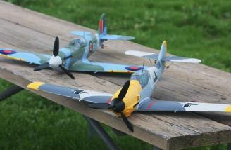 Mike's Spitfire with my Bf-109