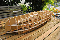 Name: DSC_2687.jpg Views: 73 Size: 312.3 KB Description: its already very rigid, I measured the plywood as 3.2mm, so the slots are all exactly 3.2mm.  In fact, the wood was closer to 3.275 so they had a very tight fit and a bit of thickness sanding was needed, but no big deal.