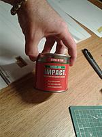 Name: 20140909_214419.jpg Views: 24 Size: 123.6 KB Description: I used this glue to layer Depron.  The glue is easy to apply and it does not dry fast allowing accurate positioning of parts.