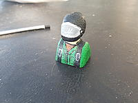 Name: 20170525_093108.jpg Views: 10 Size: 667.6 KB Description: Here's my go at a pilot☺ a bit of Styrofoam  some sand paper and scalpel.  My wife painted him up beautifully.
