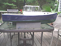 Name: IMGP0808.JPG Views: 178 Size: 997.4 KB Description: Looking more and more like the 35' Terry Jason hull I am trying to replicate. Will be a S.fish model. Talked with a Charter Capt. in the harbor yesterday who had what I thought was a TJ 28' Turned out to be a BHM. He raved about it's sea keeping abilities
