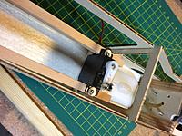 Name: 762.jpg Views: 92 Size: 204.8 KB Description: Throttle servo and spruce rails