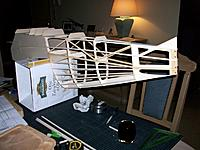 Inverted fuselage for adding the bottom frames and stringers