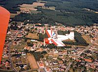 Name: IMG_20180707_0004.jpg Views: 16 Size: 248.0 KB Description: I'm flying the owner's Stampe SV4b biplane while he formates on me in his Nipper during a return flight from a gathering somwhere in Belgium. How lucky can you be to have friends like that...