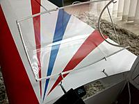 Name: 100_4756.JPG Views: 19 Size: 149.7 KB Description: Offset hinges and a easily removable canopy were the only solution to duplicate the functioning of the real one. Note added crossmember for rigidity during transport, this is hidden behind the pilot puppet's back