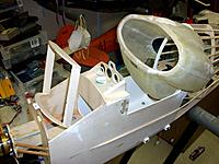 Name: 100_4708.JPG Views: 15 Size: 181.8 KB Description: custom produced frame for the electric compartment and instrument panel being prepared for instrument inserts. ESC mounting bracket in the slipstream for cooling