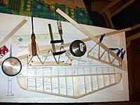 Name: 100_4791.JPG Views: 2 Size: 207.3 KB Description: Balsa supports under the ribs and trailing edges of the elevators during the gluing of the thin trailing edge assembly.