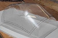 Name: canopy mold.jpg Views: 3 Size: 70.6 KB Description: The prototype canopy mold as received by post, later examples will be produced with more clear acetate over a plaster mold instead of the 3-balsablock tryout.