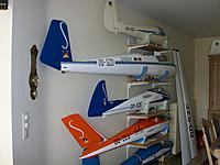 Name: 100_5176.JPG Views: 31 Size: 453.4 KB Description: The Bocian amidst the other Sabena decorated historic gliders on the wall of my living room. The wings are still along because I still had to produce wing covers and make space for them, it starts getting crowded.