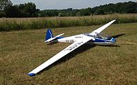 Name: holding for maiden c .jpg Views: 42 Size: 212.7 KB Description: All powered-up at the holding point, waiting for the towplane. This is definitely a nice model to look at and can impossibly be confused with gliders of any other type.