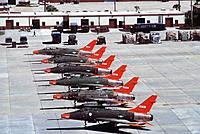 Name: QF-100-Tyndall-AFBcr.jpeg Views: 1 Size: 290.0 KB Description: Different variants of QF100's lined up at tyndal with their original camouflage from different units and theaters augmented by newly applied red visibility panels. Aluminum panels around the exhaust have different stages of discoloration according (ab)use