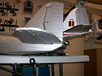 Name: 100_5342.JPG Views: 193 Size: 454.2 KB Description: Attrociously inaccurate aft fuselage of the ZD model compared to the Dynam model in the background
