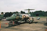 Name: FX65...........jpg Views: 11 Size: 82.8 KB Description: My personal F104 FX65 as pictured at the end of the 1978 Tactical Air Meet at Wildenrath (RAFG) with tips, pylons and Su21 dispencer. During the last days, crew chiefs of various other detachments kept on adding badges and emblems to our port fuselage.