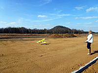 Name: pipernewrwy1.jpg Views: 747 Size: 172.2 KB Description: Taking off across the construction works of our new rc runway