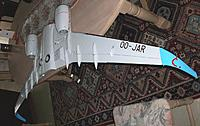 Name: wing assembly_5.jpg Views: 116 Size: 147.4 KB Description: The bottom of the 2 meter span wing is only marred by the exposed aileron actuators