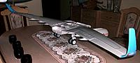 Name: wing assembly_14.jpg Views: 127 Size: 113.6 KB Description: Top of the wings with flaps up, the strange winglet angle is an optical illusion due to the camera angle. From this angle the landing gear is very visible and looks truly scale