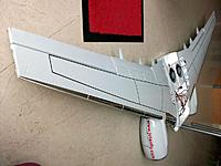 Name: wing assembly_15.jpg Views: 115 Size: 154.6 KB Description: With winglets removed you can see how except for my cheating with the chromed slats, none of the other wing lines are perfectly straight. Much pleasure to the ones who want to duplicate this result