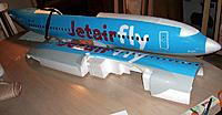Name: b737 vinyl_19.jpg Views: 103 Size: 115.6 KB Description: Maximum finish applied before joining the halves, except for the foam parts still to be glued, filled and sanded. Kit crease lines were used for panel pattern sizes.