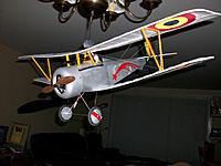 Name: nie 23.jpg Views: 39 Size: 137.1 KB Description: Simulated wood effect on prop plus plain silver engine cowl and gun repositioned from the top of the wing to the fire through prop position gives this model a much different look.