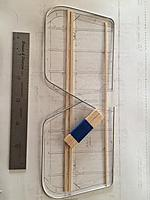 """Name: unnamed (1).jpg Views: 145 Size: 14.2 KB Description: Stabilizer """"kit""""! Rib blanks are 1/16 x 1/4 x 2"""". Tape together, then drill and cut for spar, TE, LE."""