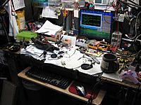 "Name: TheMess.jpg Views: 129 Size: 130.1 KB Description: Garage ""lab"" don't laugh! I'll clean it up."