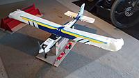Name: IMG_20191123_122404839.jpg Views: 19 Size: 769.0 KB Description: Plane sitting on fuse stand with wing stand in background.