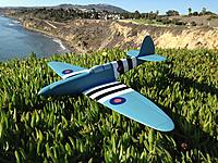 Name: image-ec21607d.jpg Views: 168 Size: 313.4 KB Description: Spitfire ready to go.    It will not look like this after it flies.   54 oz