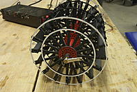 """Name: DSC_0012.jpg Views: 144 Size: 205.4 KB Description: 6.33"""" dia. brass and wood paddlewheel for Preston: 820 individual parts. brass hubs were drawn in CAD and cut on waterjet table"""