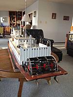 Name: SternPreston.jpg Views: 132 Size: 106.4 KB Description: Stern view of nearly finished boat. All 51 lights are controlled on a 12-channel dedicated lighting RC controller allowing nav and running lights to be set according to USCG Rules