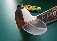 Name: PB251241.jpg Views: 148 Size: 95.0 KB Description: rudder hinge tabs secured in place with Depron fillet