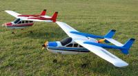 Name: skymasterandmixmaster.jpg Views: 693 Size: 83.2 KB Description: Tommy's Skymaster and my Mixmaster at the field