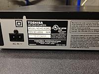 Name: Photo Sep 25, 7 54 59 PM.jpg Views: 52 Size: 238.8 KB Description: Rear view of Toshiba HD-A30 HD/DVD player