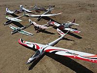 Name: 20130427_121316a.jpg Views: 68 Size: 208.8 KB Description: Partial Fleet Photo out for weekend fun fly.