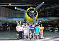 Name: Scouts and Avenger.jpg Views: 38 Size: 100.7 KB Description: A group of kids touring the TBM-Avenger during one of my Aviation Day Camps at Ellington Field. The Avenger is a BIG airplane!
