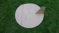 """Name: P1060457.JPG Views: 3 Size: 4.44 MB Description: A rough 28.5 """" Nutball airframe in cardboard weighs 11.45 ounces (this one does, anyway!)"""