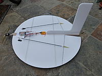 """Name: a6343088-98-P1000313.jpg Views: 231 Size: 171.8 KB Description: This is one I built, but it started life as a 24"""" PiYak before being converted, so it has unusual (UFO-AP-like) elevons.  Flies great!"""
