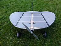 """Name: P1040459.jpg Views: 39 Size: 102.3 KB Description: My 40"""" Nutball...... not a great colour scheme for flying at dawn under lead-grey, windy skies."""