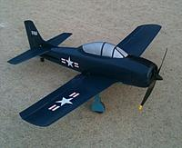 Name: T28 F8F.jpg Views: 86 Size: 43.7 KB Description: Here's my T-28 dressed up like a F8F Bearcat for halloween.