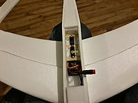 Name: 20181216_194904.jpg Views: 39 Size: 1.10 MB Description: servo/battery hatch. the servo tray is 3/4 up from bottom. wood is tongue depressor split to width.