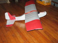 """Name: bb48 sv.jpg Views: 727 Size: 52.6 KB Description: 42"""" bb with her original 48"""" wing - I was afraid that the heavy nimh batteries would need more wing area to lift them. I was wrong, Later made a similar 42"""" span kfc wing and it lifts them fine.  the 48 is now the wing of choice for the AP"""