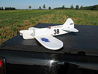 """Name: IMG_0031.jpg Views: 596 Size: 95.3 KB Description: The next development in folded fuses was an attempt at the Howard """"Mike"""".  I started with the Pete wings and tail and redrew them to match the Mike's profiles. 36"""" span simple kfm2 wing, and about 10oz auw with an Emax 2812 and 8x6 prop.  S"""