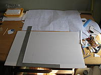 """Name: ost build 001.jpg Views: 242 Size: 81.3 KB Description: Starting layout using dimensions from the cut sheet for the """"basic"""" lines.  A framing square is invaluable for this."""