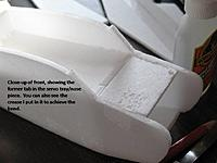 Name: Slide5.jpg Views: 962 Size: 48.8 KB Description: Nose shot showing the bend in top piece, and the place where the windshield and motor mount/formers go.