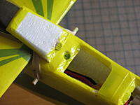 Name: batt hatch open.JPG Views: 74 Size: 78.9 KB Description: Here is hatch door open. note the two magnets at aft end, and the piece of plastic over coated with tape that forward end slides under.